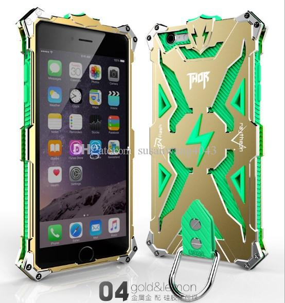 Hybrid metal Aluminum TPU Shockproof defender Case for iPhone 6 6S Plus LuxuryTough Armor THOR IRON MAN protector case GSZ155