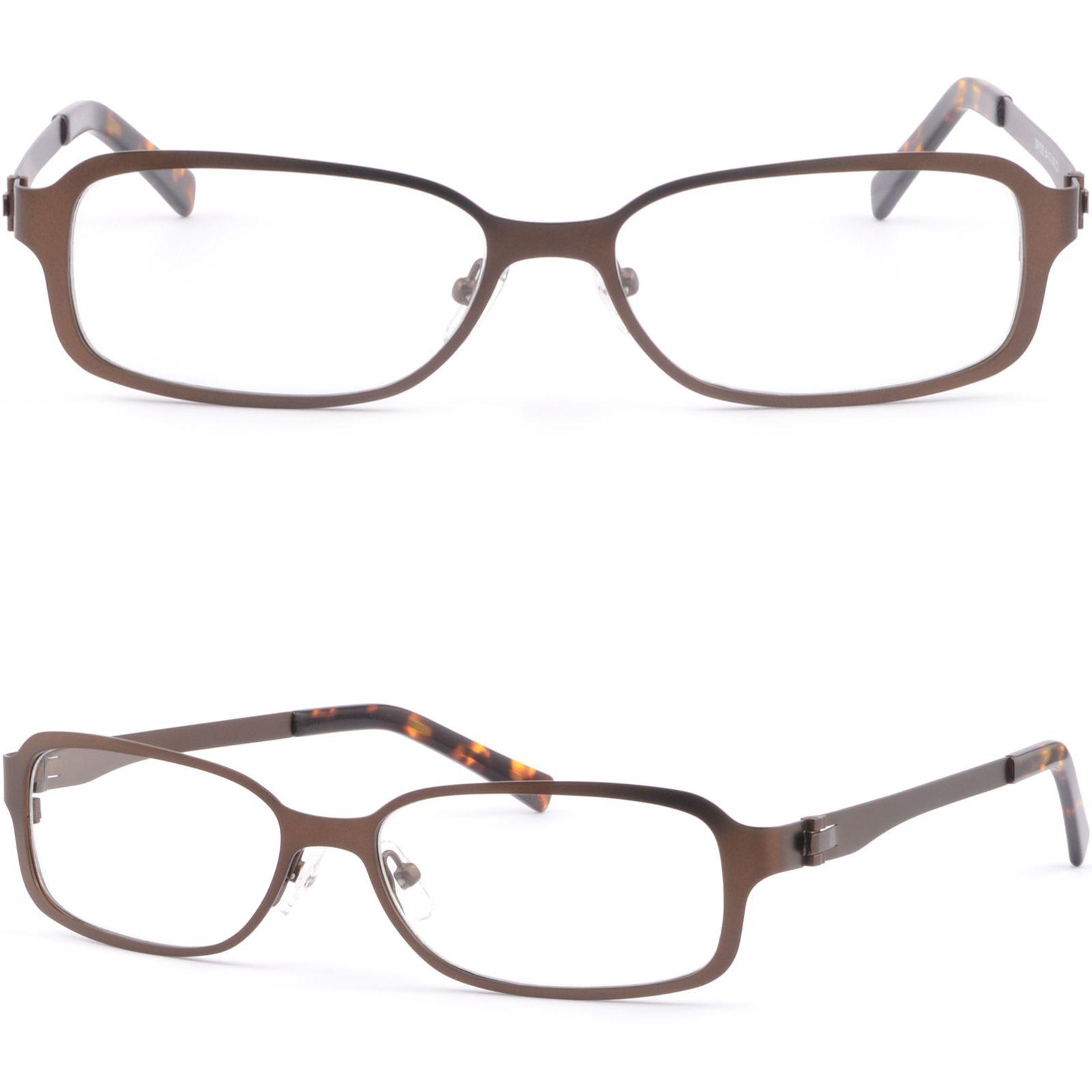 3fdd2779301 Brown Womens Men s Metallic Metal Frame Light Prescription Glasses RX Sunglasses  Glasses Frame Online with  34.23 Piece on Aceglasses s Store