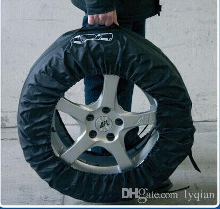 HAUTE QUALITÉ Housse de pneu de secours pour Summer Winer Polyester Housse de protection pour pneu noire Accessoires de roue pour housses de voiture Sedan