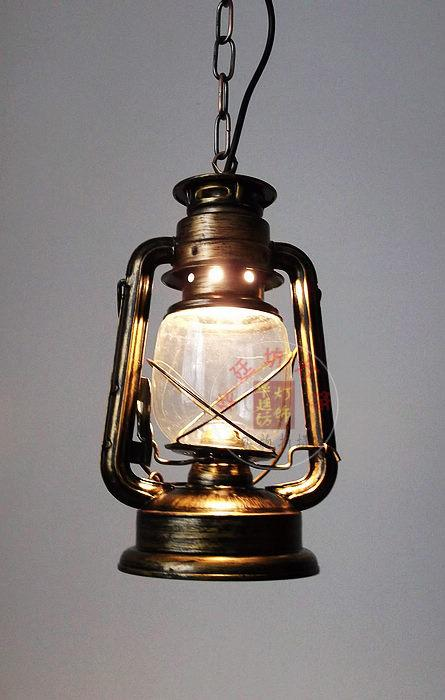 Discount Loft Vintage Kerosene Iron Galss Pendant Lamps Outdoor Pendant Lights  Stair Lamps Lantern Light Fixture Luminaire Industrial Pendant Lights Track  ...