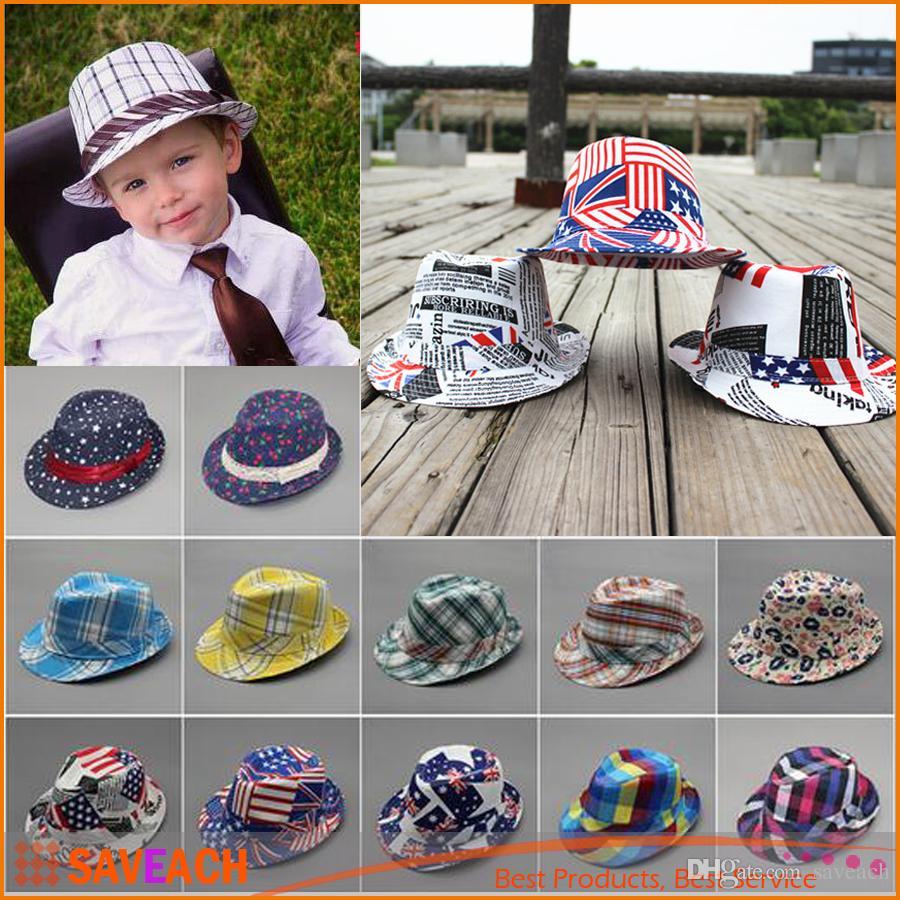 3daab11828fda 2019 2016 Unisex Casual Fedora Trilby Hat Children Top Hat Jazz Cap Boys  Girls Fedoras Baby Hat Wholesale From Saveach