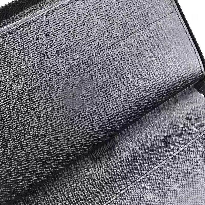 Wholesale Luxury famous classic standard wallet zippy organizer long purse moneybag zipper pouch coin pocket note compartment clutch 60003