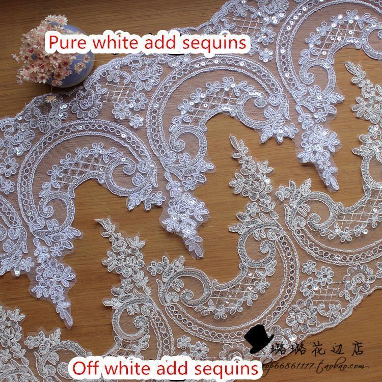 Free Shopping 3 YardWidth 24cm Collar Lace Fabric Bridal Headdress ...