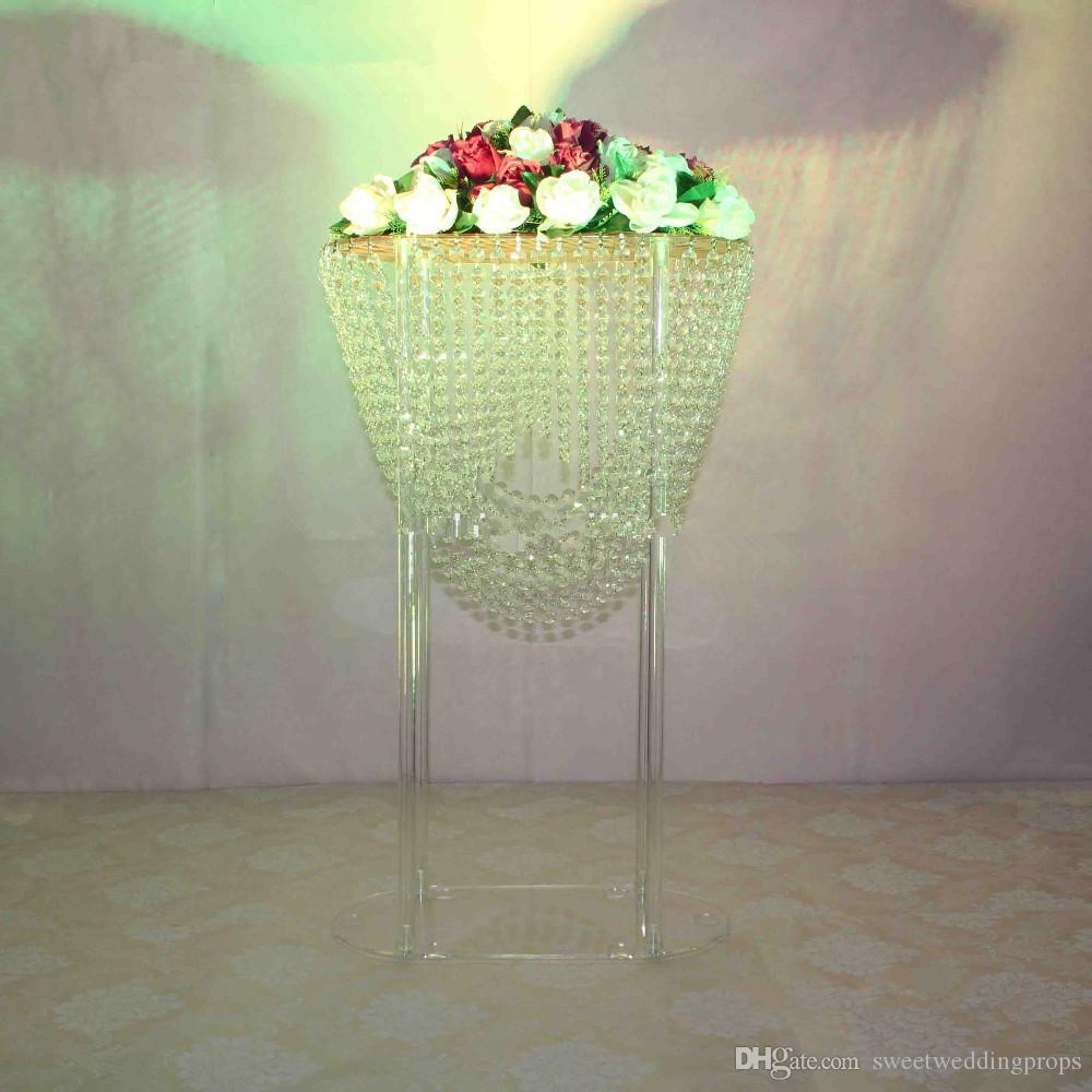Şeffaf akrilik çiçek standı düğün centerpieces / düğün için weddngs / metal vazo için akrilik çiçek standı