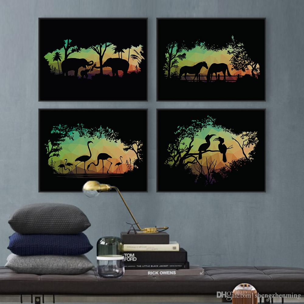 2018 Modern Nordic Wild Animals Horse Silhouette Portrait Canvas A4 Art Print Poster Wall Picture Living Room Decor Painting No Frame From Shengzhenming ...  sc 1 st  DHgate.com & 2018 Modern Nordic Wild Animals Horse Silhouette Portrait Canvas A4 ...