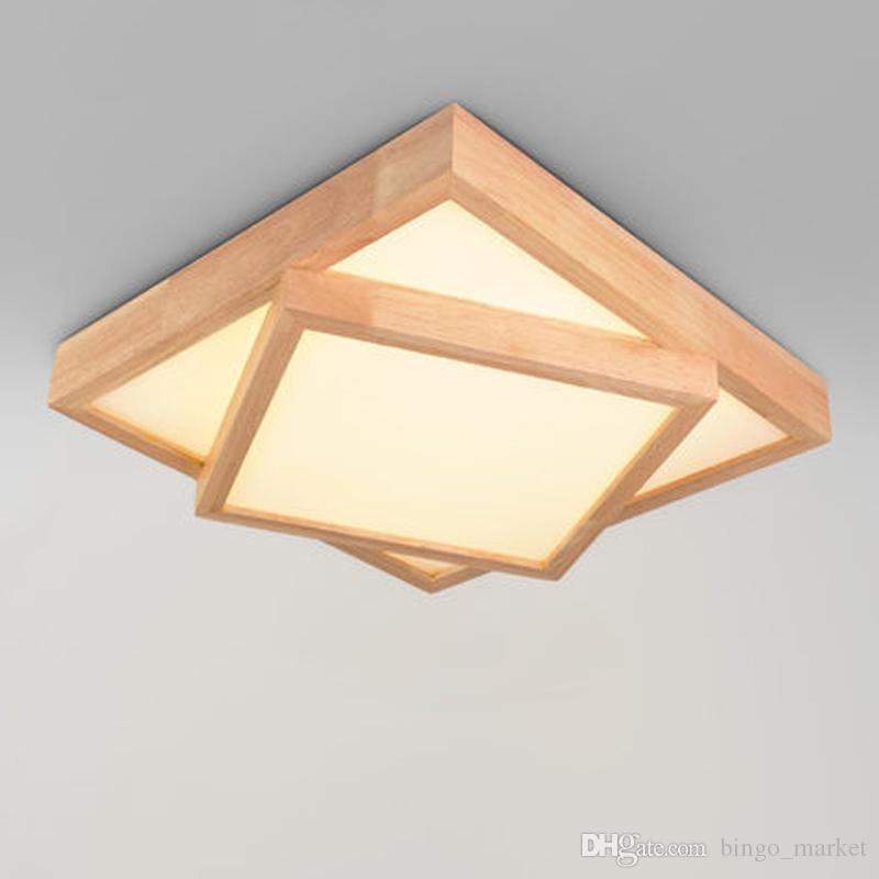 Simple wood ceiling lamps of modern chinese style living room simple wood ceiling lamps of modern chinese style living room bedroom lamp lights nordic study lamp led square wooden lamp pendant ceiling lights hanging aloadofball Gallery