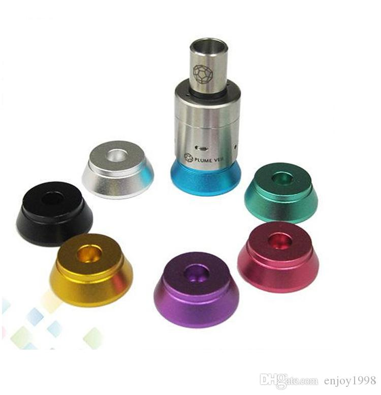 Cheapest Price Best Aluminum Base Metal Holder Colorful Atomizer Stand Clearomizer Stand fit E Cigarette Atomizer RDA 510 Thread DHL Free