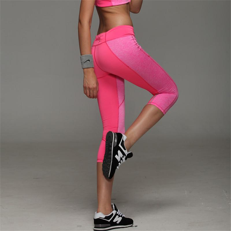 4270b8fc19d5a Women Yoga Pants Sport Fitness Night Running Sportswear Tights Quick Drying  Compression Trousers Gym Slim Legging