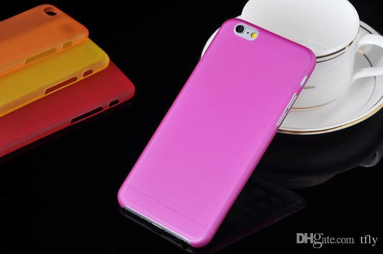 0.3mm Ultra İnce Şeffaf Clear Sert PC Kasa Buzlu Mat Arka Kapak iPhone 11 için Pro Max X XS MAX XR 8 7 6 6 S Artı Samsung Galaxy