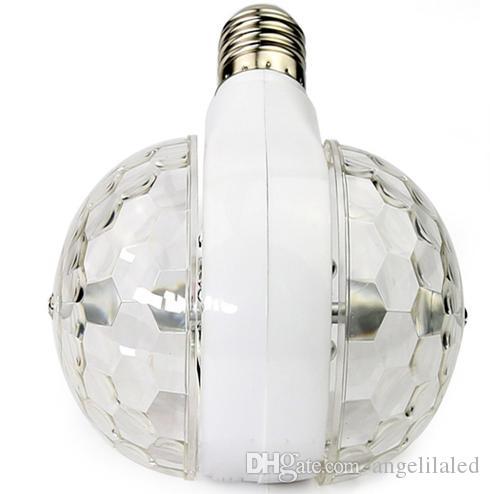 E27 B22 LED KTV Ampoules Activé RGB LED Feux Rotatifs Lumière 3W Double Pupitre LED Balles Scène RGB Lumière Feux Rotatif Lampe KTV Partie