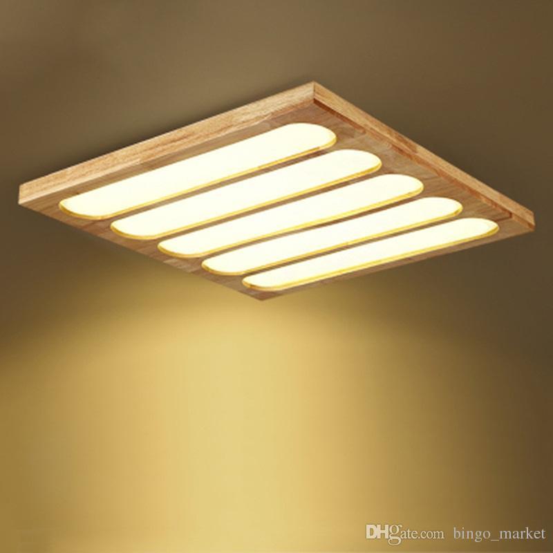 Großhandel Modern Home Beleuchtung Wohnzimmer Holz Deckenleuchten New  Creative Design Dekoration Lampen Für Schlafzimmer Innendekoration Von  Bingo_market, ...
