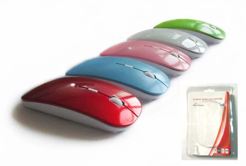 Mini İnce Kablosuz Optik Mouse Fare 1000 DPI Macbook Windows 7 XP Vista Için 6 Renkler Dizüstü
