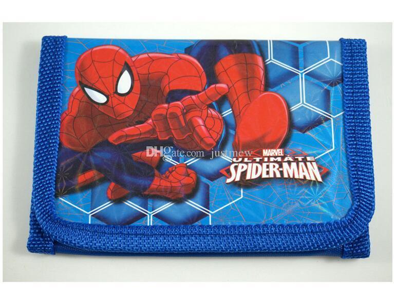 Chaud! Nouveau! enfants de garçons de dessin animé super héros spiderman enfants divers stocking filler portefeuille bourse sac à main sac cadeau populaire