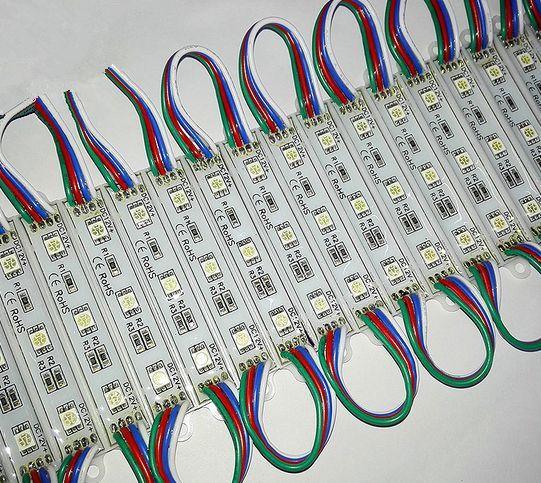 Alta Lumen impermeabile 12V RGB LED Pixel Moduli 3 LED 5050 SMD Moduli 0.72W ha condotto 80LM ha condotto la retroilluminazione Channer Lettere