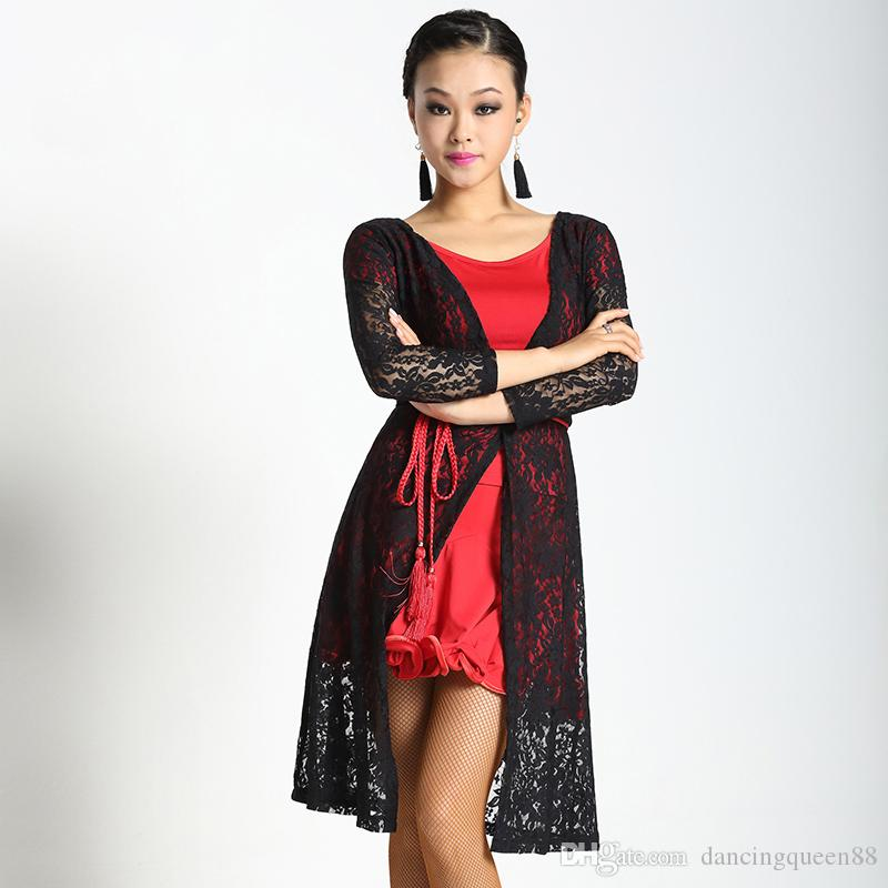 New elegant ballroom long-sleeve lace Latin dance clothes cape for women/female/girl/lady,costume top outerwear performance wear