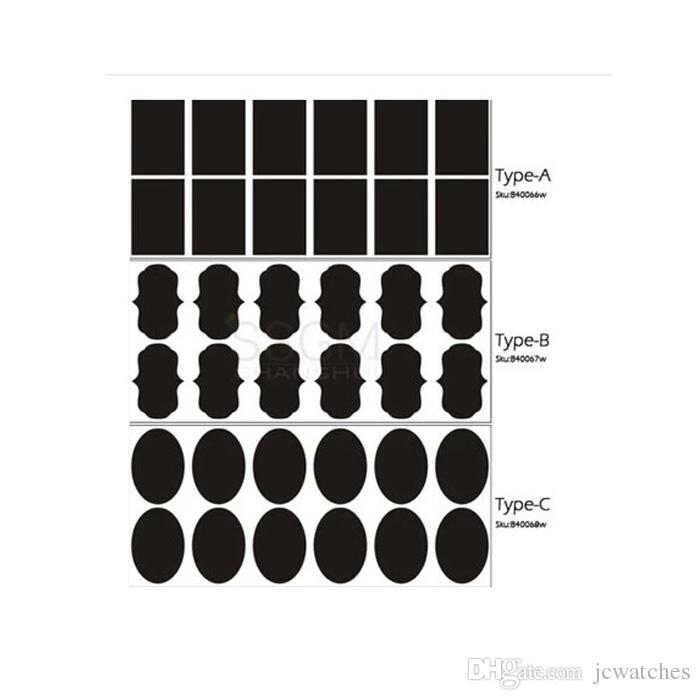 Blackboard Sticker Chalk Pen Chalkboard Stickers Labels Vinyl Kitchen Jam Jar Wall Cup Bottle Planner Mirror Decor Decals Tags 5cm x 3.5cm