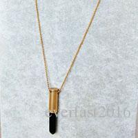 La collana di pietra della collana della catena della palla dell'ottone dell'ottone della collana di pietra dell'ottone della collana di pietra del pendente di stile di modo celebra il trasporto libero