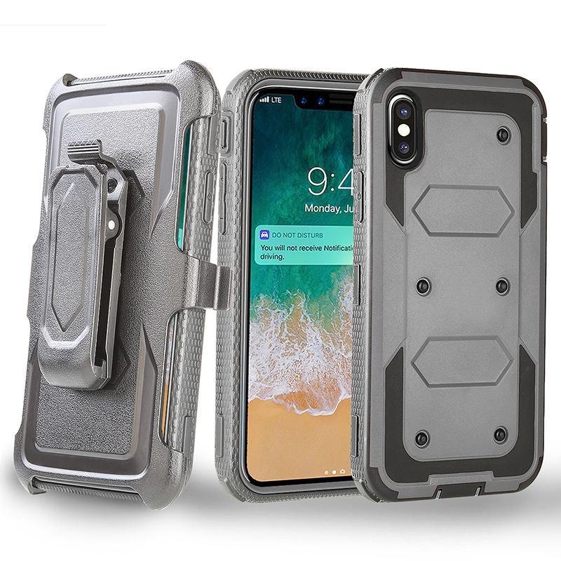 الثقيلة واجب حالة الحافظة مع حزام كليب الغلاف الهجين للحصول على اي فون برو 11 XR XS MAX X 8 زائد سامسونج غالاكسي ملاحظة 10