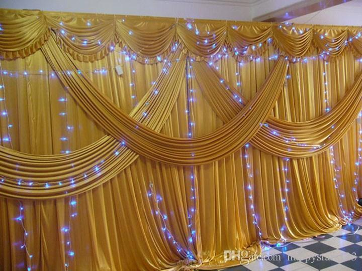 Fashion Wedding Stage Background / Wedding Backdrop Curtain 3m*6m10ft*20ft  Props Curtain Decorations Church Wedding Decorations Photos Discount Wedding  ...