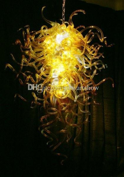 Европейские Старинные Деревенские Люстры Воздушные Перевозки 110 В-240 В AC LED Источник Уникальный Ручной Выдувное Стекло Художественная Лампа