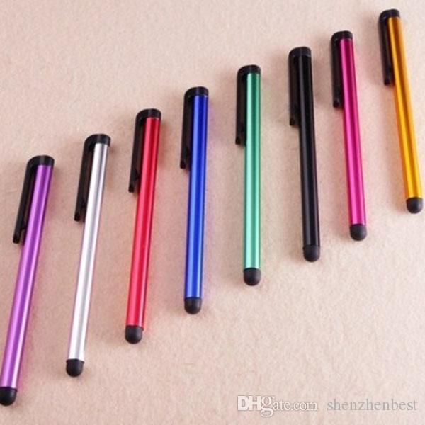 Venta al por mayor / capacitivo Stylus Pen universal para Iphone5 5S pantalla tactil para el teléfono celular para la tableta de diferentes colores