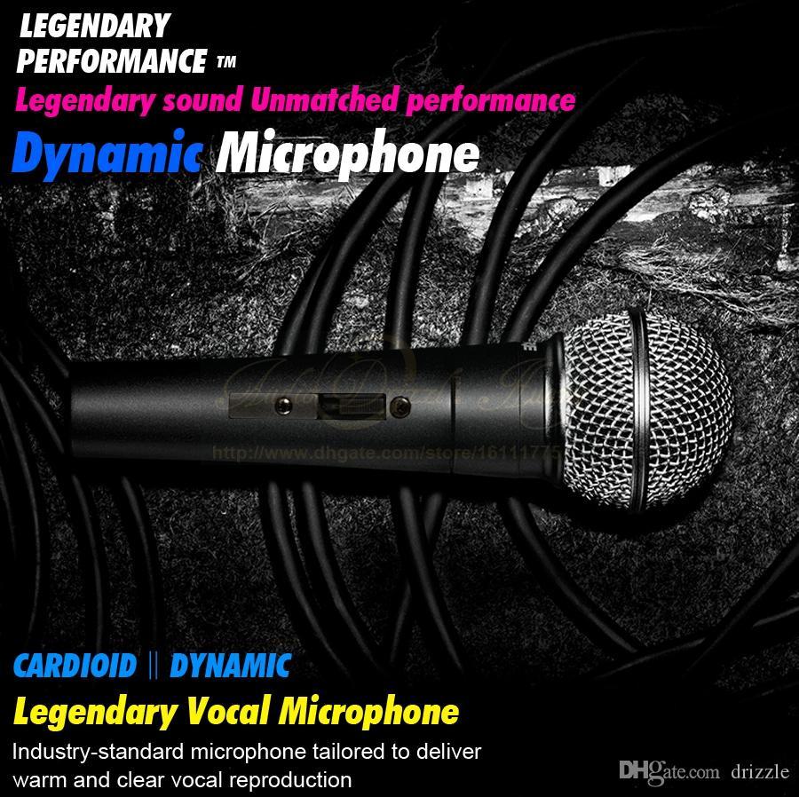 Kalite SM 58 58LC SM58LC El Anahtarı Kablolu Mic PC Karaoke Mikser Kardioid Vokal Dinamik Mikrofon Hareketli Bobin Mike Için SM58S 58 S SM58SK