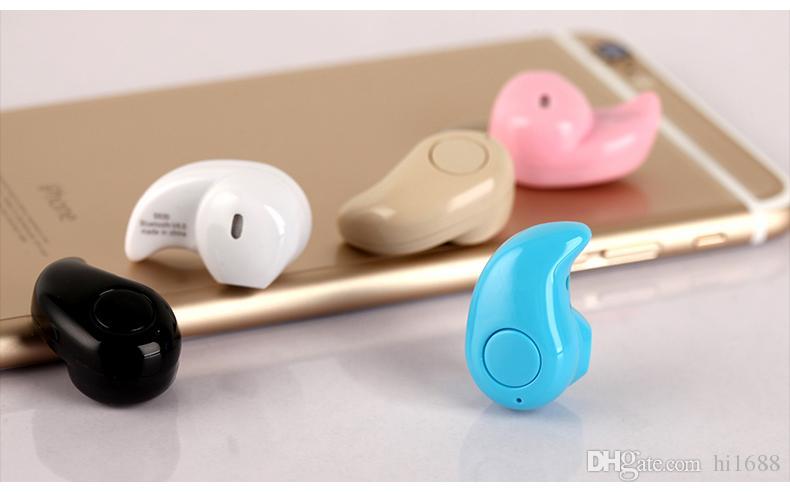 Mini Bluetooth 4.0 Écouteurs Stéréo Lumière Sans Fil Invisible Écouteurs S530 Super Casque Musique répondre à un appel Vente Chaude DHL Livraison Gratuite