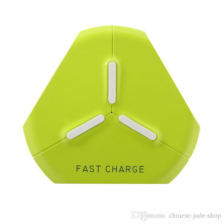 Universal QI Wireless Charger Fast Charger 5v 2.0A 9V 1.67A Pad Plate Cradles Q500 triangular in retail package