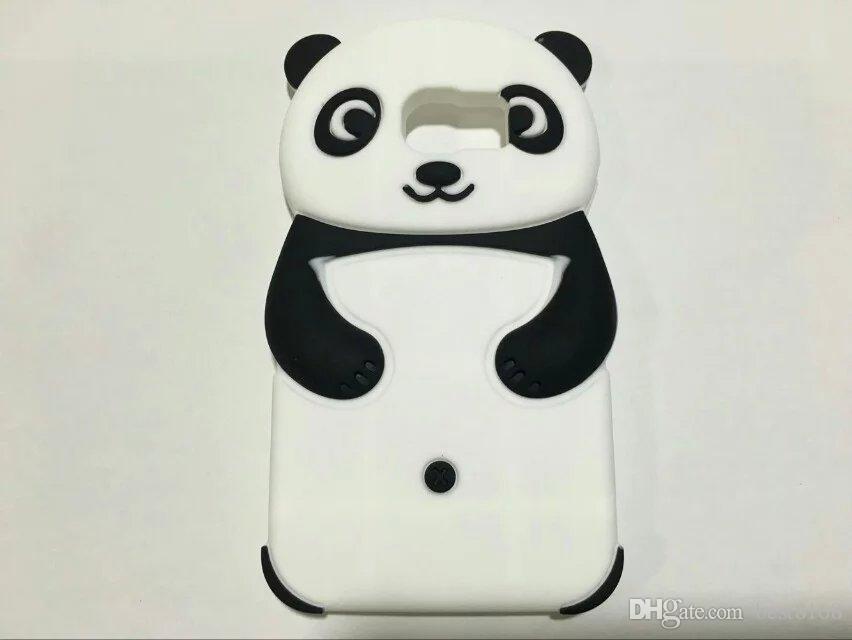 Stereo 3D Panda Bear Soft Silicone Case For Galaxy S7 G9300 G930 /S7 Edge/A320/A520 A3 A5 2017 Rubber Cute Cartoon Lovely Fashion Cover Skin