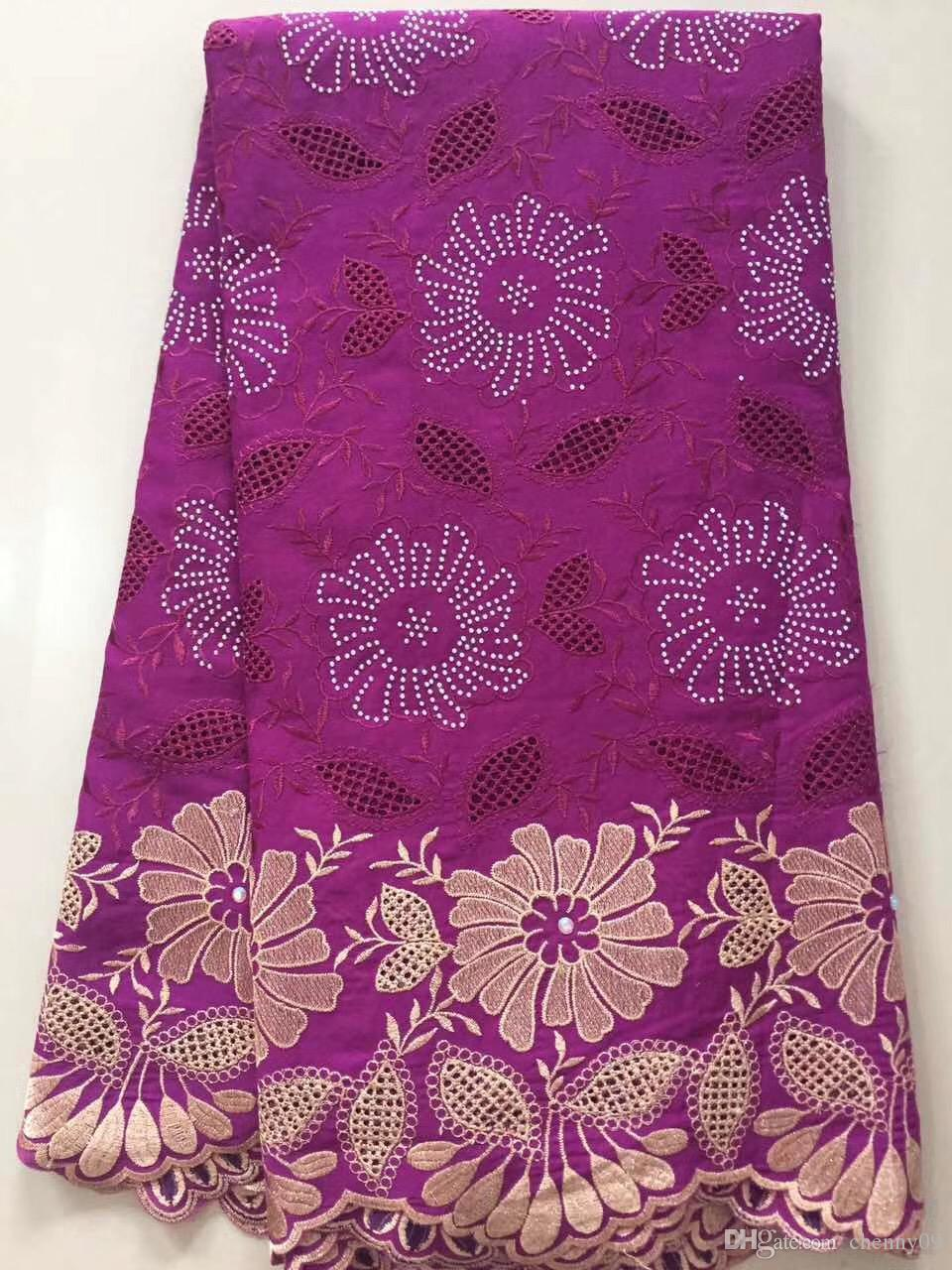 New Super Deal African Cotton Lace Fabric Beautiful Swiss Voile ...