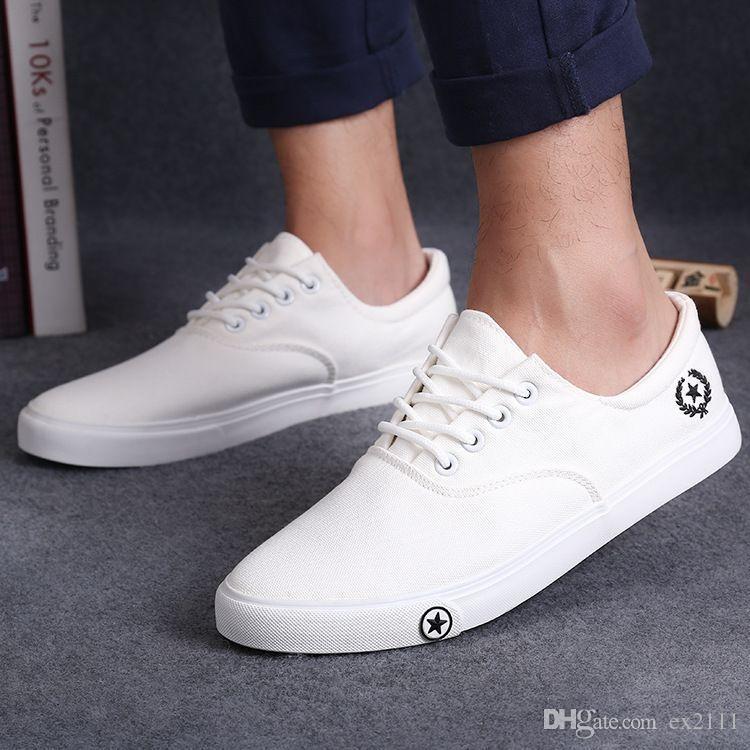 Mode Pour Hommes Chaussures De Sport Chaussures Basses En Toile Appartements (de Eur42, Bleu Clair)