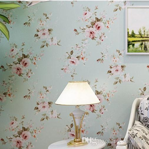 Background Wall Floral Wallpaper Pvc Wall Covering Classic Flower Wall  Paper For Living Room U0026 Bedroom Green,Beige Wp209 Hi Def Wallpaper Free Hi  Def ...