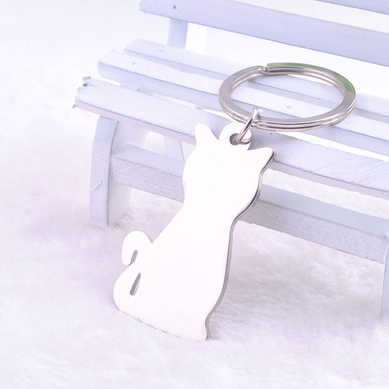 Neues Art- und Weisesilber überzogenes kreatives vorbildliches Katze Keychain populärer vielseitiger Metallschlüsselring-Schlüsselkette schnelles Verschiffen DHL028