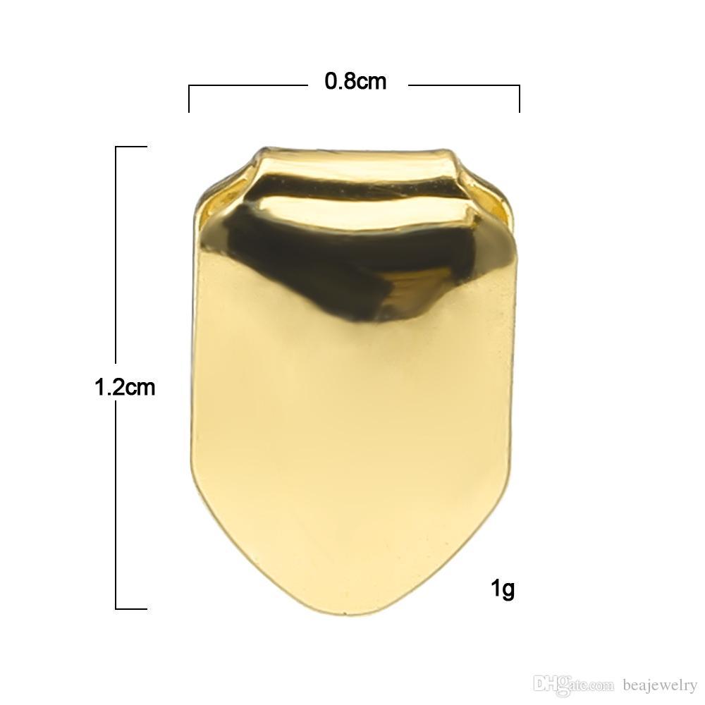 14K vergoldeter Einzelzahn-Fang-Grillkappe-Kappe-Eckzähne für Mann Hip Hop Custom Grillz