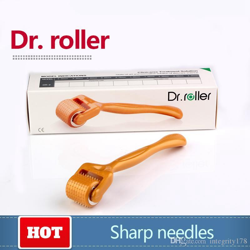Novo 192 agulhas derma roller ultra-afiada liga de titânio agulhas Dr.roller-192 Microneedle rolo 0.2 MM-3.0 MM 5 pçs / lote Chinapost livre