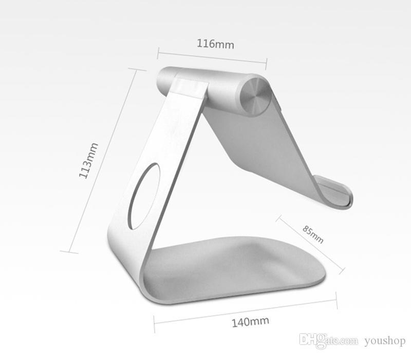 270도 회전 가능한 알루미늄 휴대 전화 태블릿 스탠드 iPad Pro 에어 미니 4 용 태블릿 스탠드 홀더 데스크탑