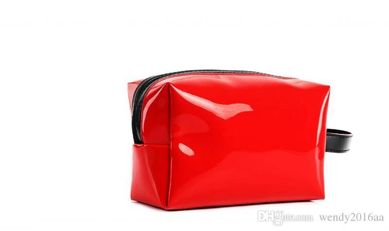 Women Lip Beach Bags Travel small zipper patent leather bags Fashion Female Tote Purse