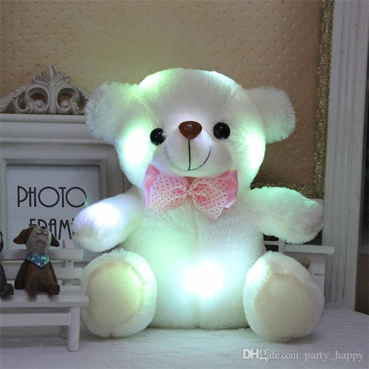 New LED Children's Dolls Flashing Lights Will Glow Teddy Bears Doll Gift Shine In The Teddy Bears Flashing A Doll Teddy Bear Plush Toys