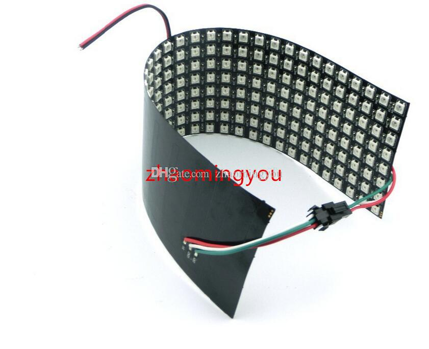 8x8,16x16,32x8 flexible LED-Pixel-Schirm-RGB-Anzeige, farbenreicher Innen-LED-Werbungs-Bildschirm DC5V WS2812B SMD 5050