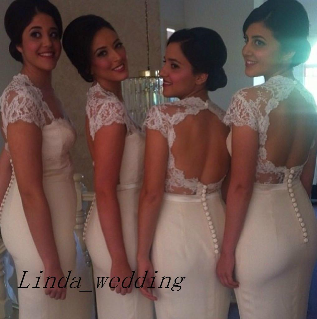 Open Back Bridesmaid Dresses 2019 New Arrival Mermaid Floor Length Long Dress Vestidos Guest Wedding Party Gown