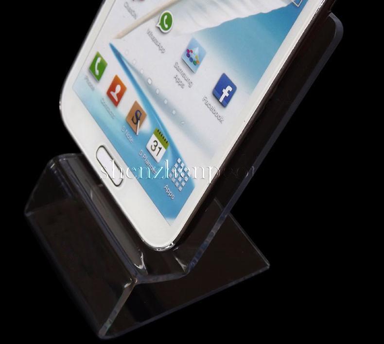 DHL 빠른 배달 아크릴 휴대 전화 휴대 전화 디스플레이는 6 인치 휴대 전화 스마트 폰 HTC를위한 홀더 스탠드 스탠드