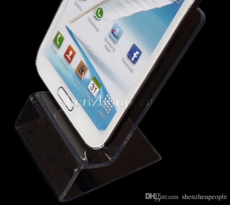 DHL entrega rápida Acrílico Celular telefone Celular Display Stand suporte para 6 polegadas telefone móvel smartphone HTC