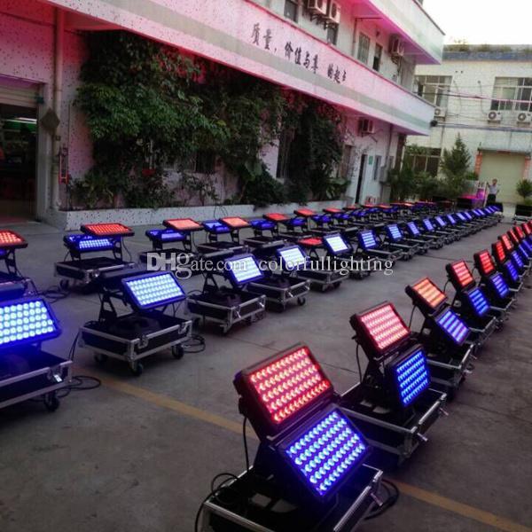 Бесплатная доставка Высокое качество 120X18 Вт IP65 Водонепроницаемый RGBAW УФ 6in1 LED City Color LED Открытый Город Цвет света с кейс