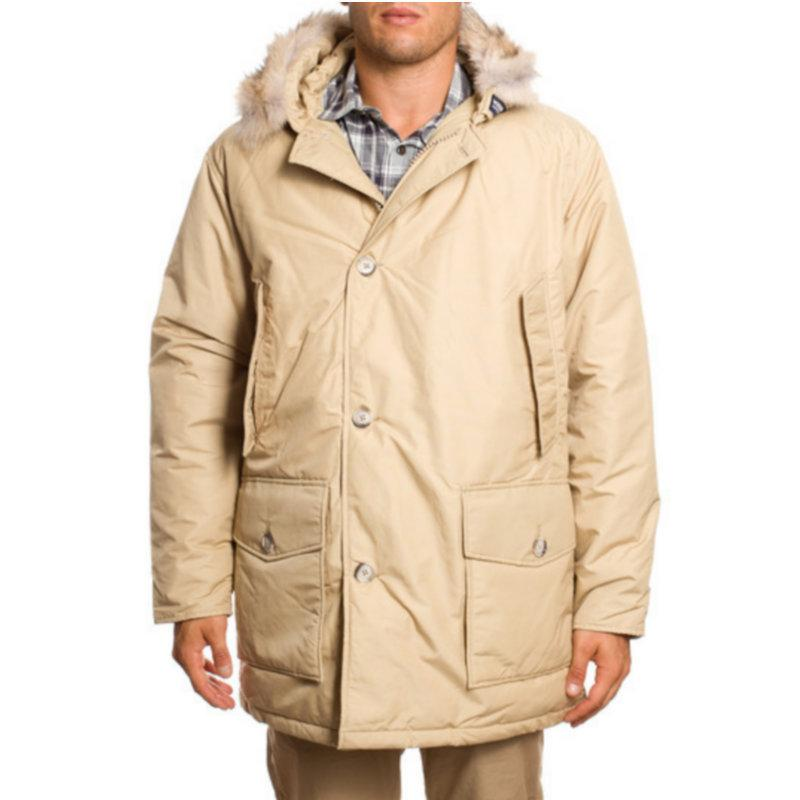 2018 Long Jacket Men Arctic Anorak Beige Down Jacket Mens Coat ...