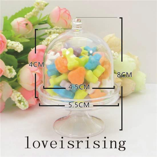 Hot Sale--Lovely Mini Clear White/Pink Color Candy Boxes Wedding Favor Boxes For Baby Shower Party Supplies