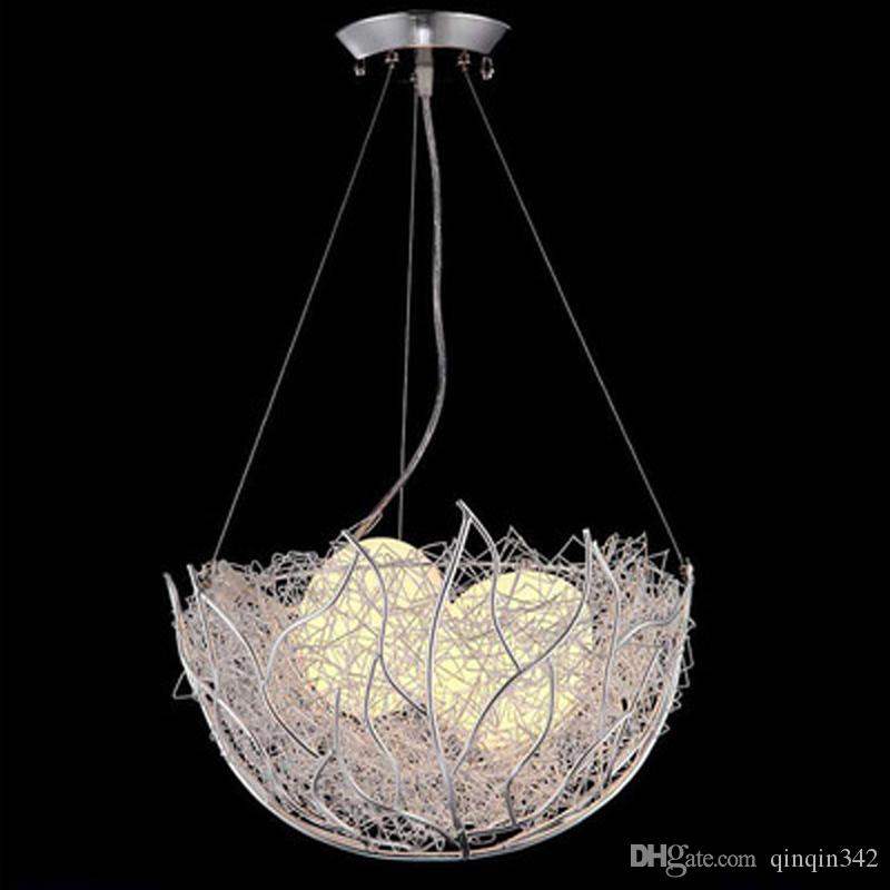 Led birds nest chandelier modern minimalist creative personality led birds nest chandelier modern minimalist creative personality dining room chandelier children bedroom balcony bar room light glass pendant light pendant aloadofball Gallery