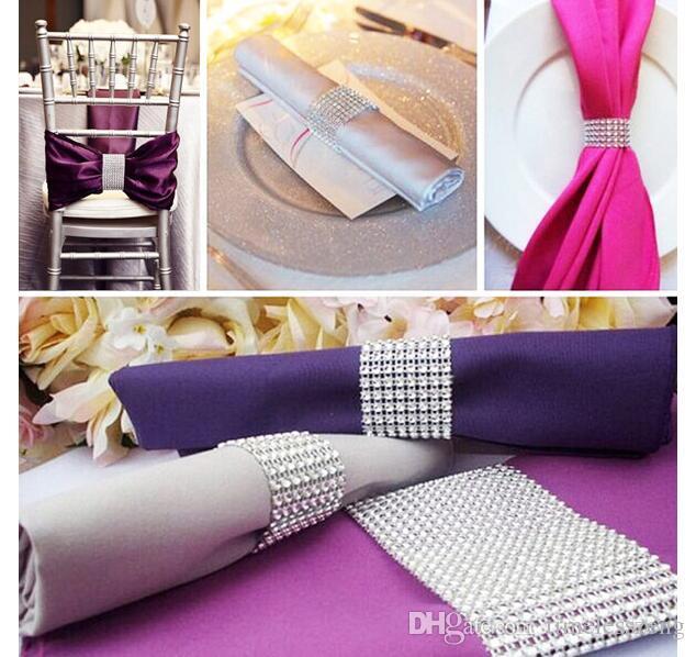 ful Diamond Napkin Ring for Table Kitchen Serviette Holder Wedding Banquet Dinner Christmas Decor Favor