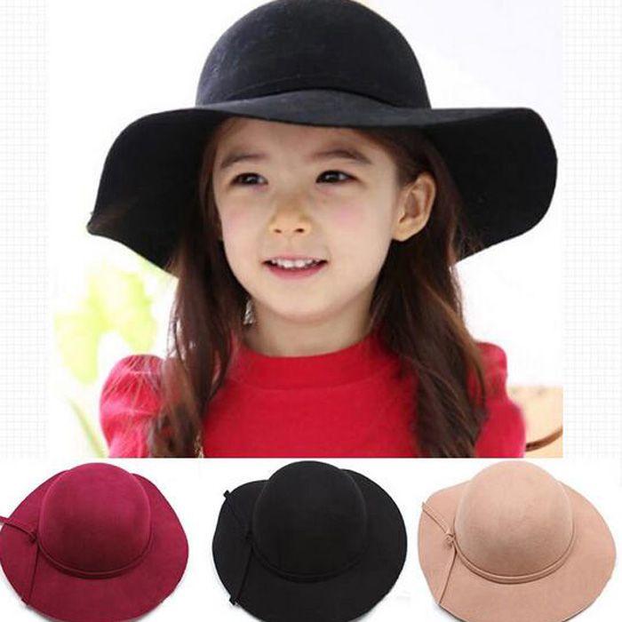 Baby Hat Children Caps Kids Hats Girls Caps Autumn Winter Sun Hat Kids Cap Girls  Hats Wool Cap Fashion Wide Brim Hats Fashion Wide Brim Hats Baby Hat Caps  ... 431367836a77