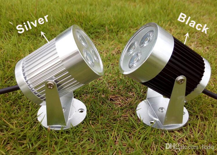Silberne schwarze LED Wand-Scheinwerfer 3W 110V 220V 12V Decken-Punkt-Licht-Birnen-warmes weißes kaltes weißes rotes blaues Grün-Gelb für Innendekoration