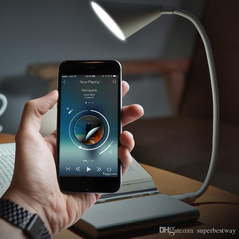 Luce di tastiera portatile LED Light Novità Altoparlante Bluetooth USB Night Light Wireless Music Book Reading Sound USB gadget Lampada OTH106